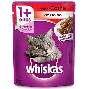 Ração Úmida Whiskas Sachê Gatos Adultos Sabor Carne 85g