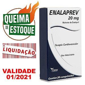 Enalaprev 20mg 20 comprimidos Cepav - Liquidação