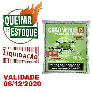 Formicida Grão Verde FS Dipil 500g Formiga Cortadeira - Liquidação