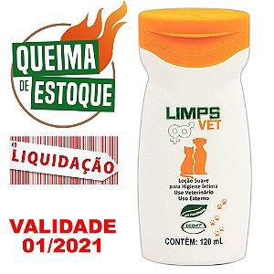 Loção Higienização Íntima Limps Vet 120ml Ecovet - LIQUIDAÇÃO