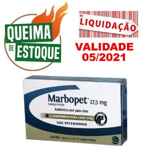 Marbopet 27,5mg 10 comprimidos - Ceva LIQUIDAÇÃO