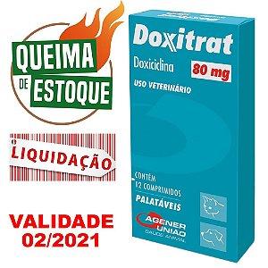 Doxitrat 80mg 12 comprimidos - Agener - LIQUIDAÇÃO