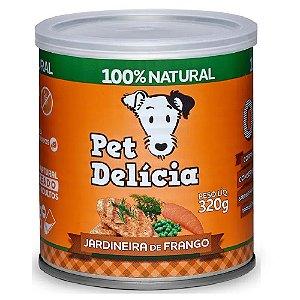 Ração Úmida Para Cães Pet Delicia Jardineira de Frango 320g