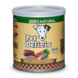 Ração Úmida Para Cães Pet Delicia Panelinha de carne 320g