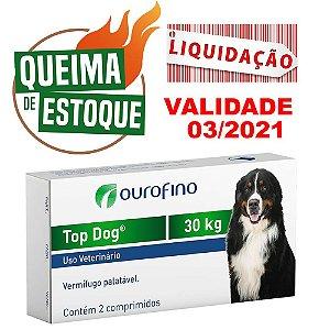 Top Dog 30kg 02 Comprimidos Palatáveis - Ourofino Val.03/21