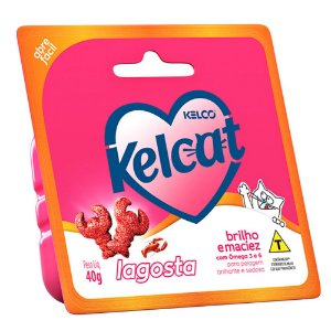 Snack Funcional Para Gatos Kelcat Lagosta 40g - Kelco