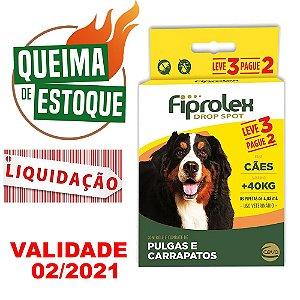 Fiprolex Cães +40kg Leve 3 Pague 2 Ceva - Liquidação