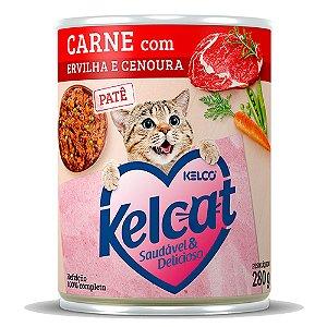 Kelcat Patê Lata Carne com Ervilha e Cenoura 280g