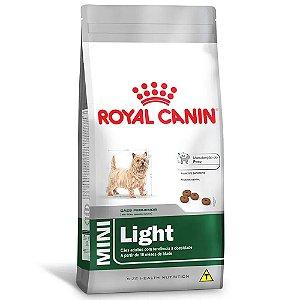 Ração Royal Canin Size Mini Light Cães Adultos Porte Pequeno com Tendências ao Sobrepeso 2,5kg