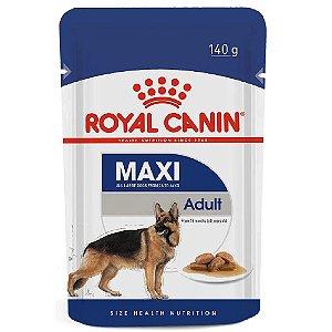 Ração Úmida Royal Canin Maxi Adult Cães Adultos Porte Grande Wet 140g