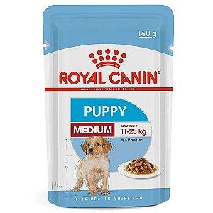 Ração Úmida Royal Canin Medium Puppy Cães Filhotes Porte Médio Wet 140g