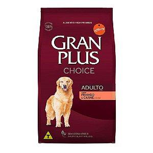 Ração Gran Plus Choice Cães Adultos Frango e Carne - 15kg