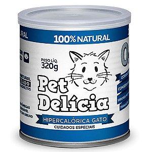 Ração Úmida Para Gatos Pet Delicia Hipercalórica 320g