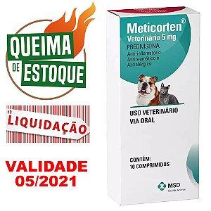 Anti-Inflamatório Meticorten 5mg MSD 10 Comprimidos - LIQUIDAÇÃO