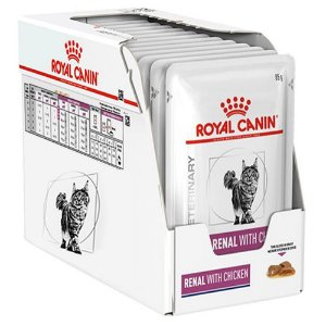 Combo 12un Sachê Royal Canin Renal Feline Wet 85g Cada