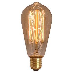 Lâmpada Retrô Decorativa Vintage Thomas Edison ST64