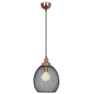 Pendente Copper 28CmX1,91Cm E27 Bella Iluminação - XN003