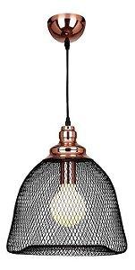 Pendente de Metal Copper Bella Iluminação Preto Cobre XN002