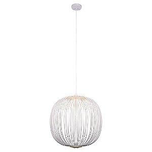 Pendente Aral 53x55cm LED 8W Branco KE006W - Bella
