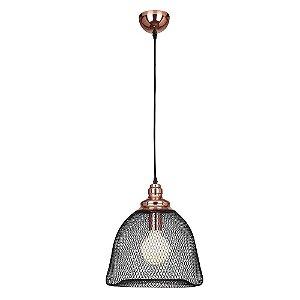 Pendente Copper 32x183cm 1xE27 Cobre Preto XN001 - Bella