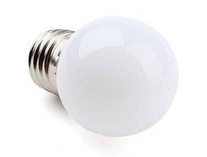 Lâmpada Bolinha Led 1w 127v Branco Quente