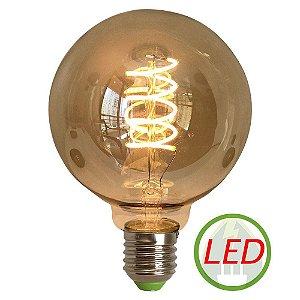 Lâmpada G95 4W Spiral Retro Decorativa Vintage LED