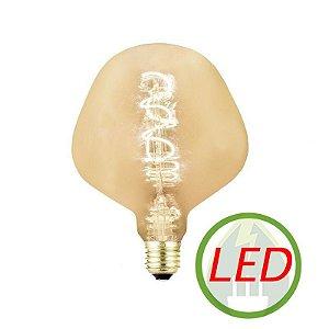 Lâmpada de Filamento LED P130 Spiral 4W Âmbar - GMH