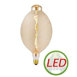 Lâmpada De Filamento LED BT180 Spiral 4W Âmbar - GMH
