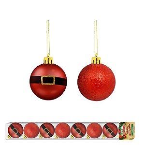 Bola de Natal linha Noel 8 unidades