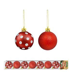 Bolas de Natal linha Poá 8 unidades