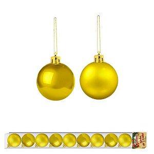 Bola de Natal Dourado 10 unidades