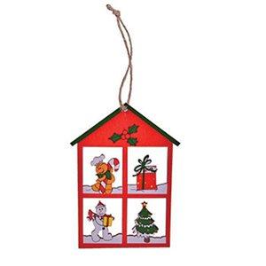 Enfeite Casa madeira Natal