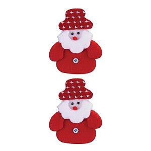 Enfeite Papai Noel com 3 peças