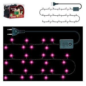 Pisca Pisca Arroz 100 lâmpadas Rosa - 127v