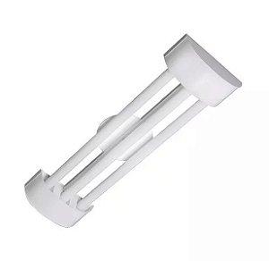 Luminária LED Tube 3x60cm Sobrepor Branco Barcelona - Tualux