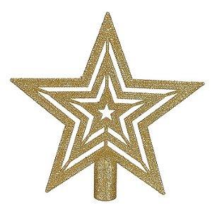 Ponteira Estrela Glitter 20cm