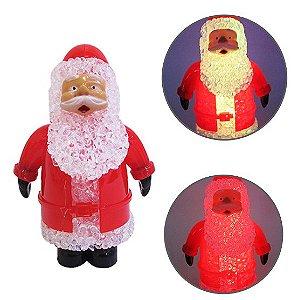 Papai Noel Luzes Coloridas Merry Christmas