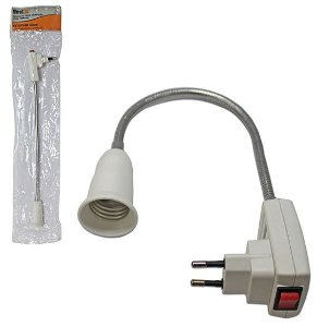 Soquete Flexível Para Lâmpada E27 Com Tomada E27 - Bestfer