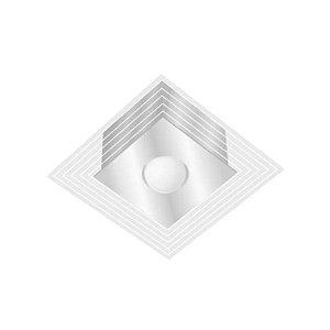 Luminária de Sobrepor Mônaco Quadrado Branco p/1 Lâmp Tualux