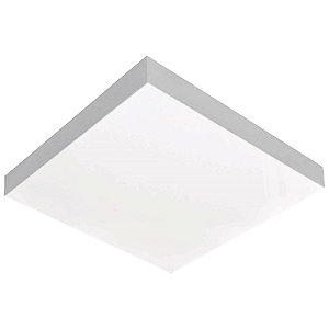 Luminária Valencia Quadrado Sobrepor Bco p/ 2 lâmp. Tualux