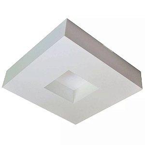 Luminária Quadrado Para 2 Lâmp Asturias 26x26 Bco Tualux