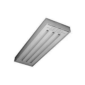 Luminária LED tube 3x60 sobrepor branco Val. 6500k Tualux