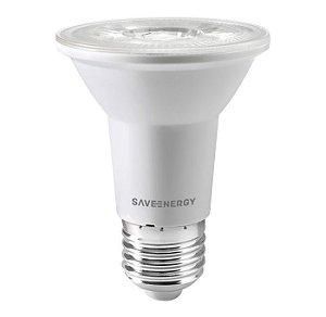 Lâmpada PAR20 LED Clear 7W 2700K Bivolt - Save Energy