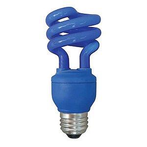 Lâmpada Fluorescente Azul 15w Xelux