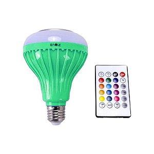 Lâmpada Colorida C/ Bluetooth Controle Remoto Bivolt