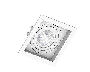 Spot embutir PAR20 Quadrado Recuado Branco - SAVEENERGY