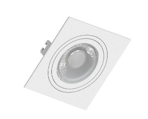 Spot Embutir p/ Lâmpada Dicróica Quadrado Branco - SAVE ENERGY