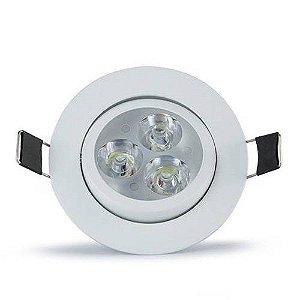 Spot LED 3W REDONDO 3000K Bivolt - CTB