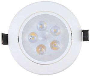 Spot LED 5w Redondo Embutir 3000k - MAXTEL