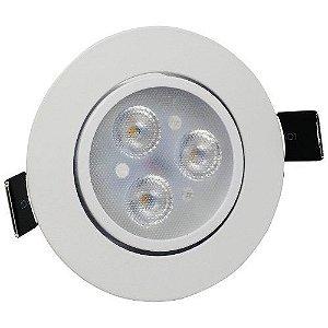 Spot LED 3w Redondo Embutir 3000k - MAXTEL